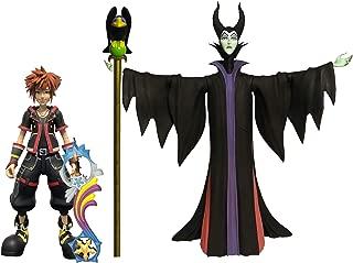 DIAMOND SELECT TOYS Kingdom Hearts 3: Maleficent & Sora Action Figure 2 Pack, Multicolor