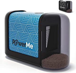 PowerMe Electric Pencil Sharpener – Battery Operated, for Home, Office, School,..