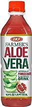 OKF Farmer's Aloe Vera Drink, Pomegranate, 16.9 Fluid Ounce (Pack of 20)