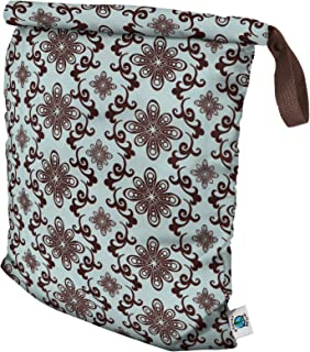 Planet Wise Inc Roll-Down Wet Bag, Large, Aqua Swirl, Made in The USA