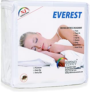 Everest Supply Waterproof Bedbug Proof Hypoallergenic Zippered Protector 6 Sided Cover Machine Washable Sofa Queen Size 60 by 72 inches Fits 4-6 inch Depth