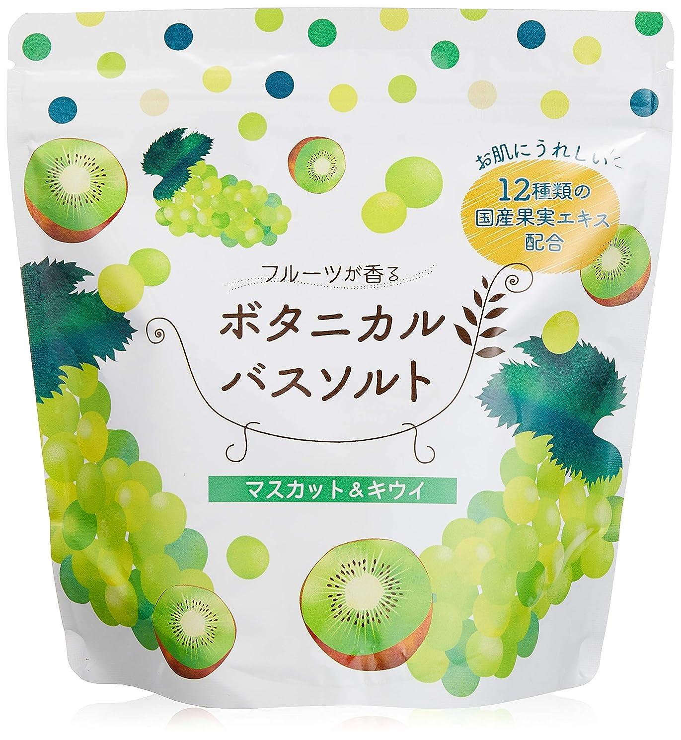 キャンプ夜の動物園尊敬松田医薬品 フルーツが香るボタニカルバスソルト マスカット&キウイ 450g