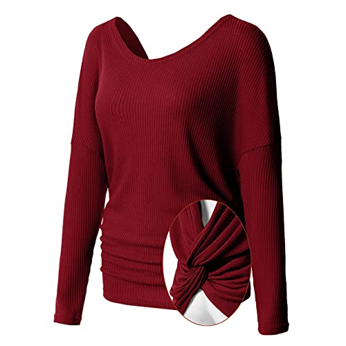 600de5b8 H2H Womens Casual T-Shirts Loose Fit Long Sleeve Dolman Stylish Knit Sweater  Top