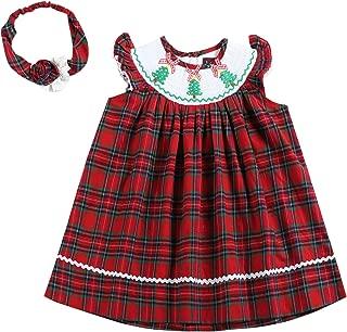 smocked christmas dress baby