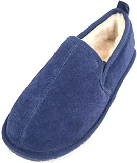 SNUGRUGS Mens Genuine Sheepskin Slipper with Lightweight Sole.