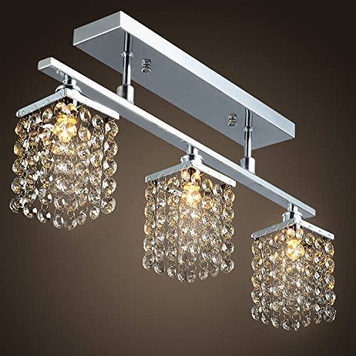 SALE US STOCK LightInTheBox 3 Light Hanging Crystal Linear Chandelier With Solid Metal Fixture