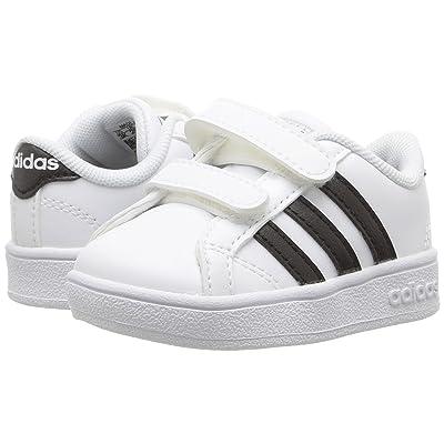 adidas Kids Baseline CMF (Infant/Toddler) (White/Black/White) Kids Shoes