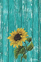 Journal: Rustic Sunflower Blank Lined Notebook   Decorated Interior