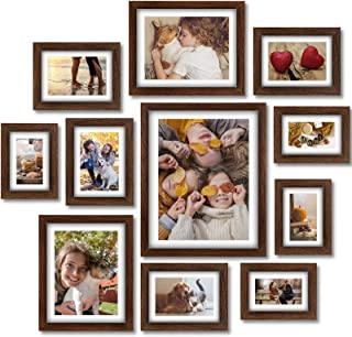 Homemaxs Picture Frames, 11 Pcs Picture Frame Set with Mat, Picture Frames Collage, Photo Frames for Wall, Tabletop, Galle...