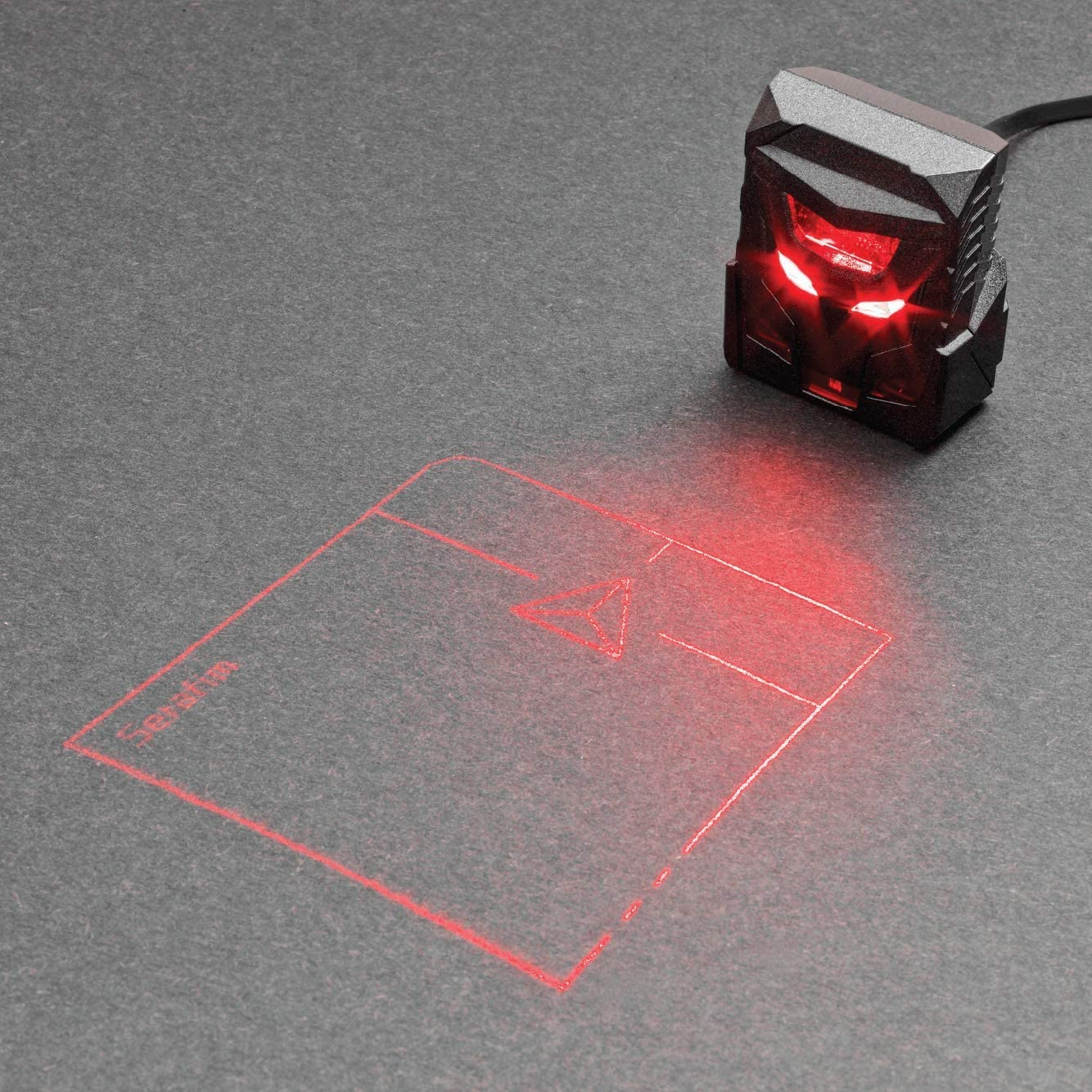 ODiN - Virtual Laser Holographic Mouse - World's First Projection Trackpad: The Ideal Complementary Accessory for Virtual Keyboards (Black)