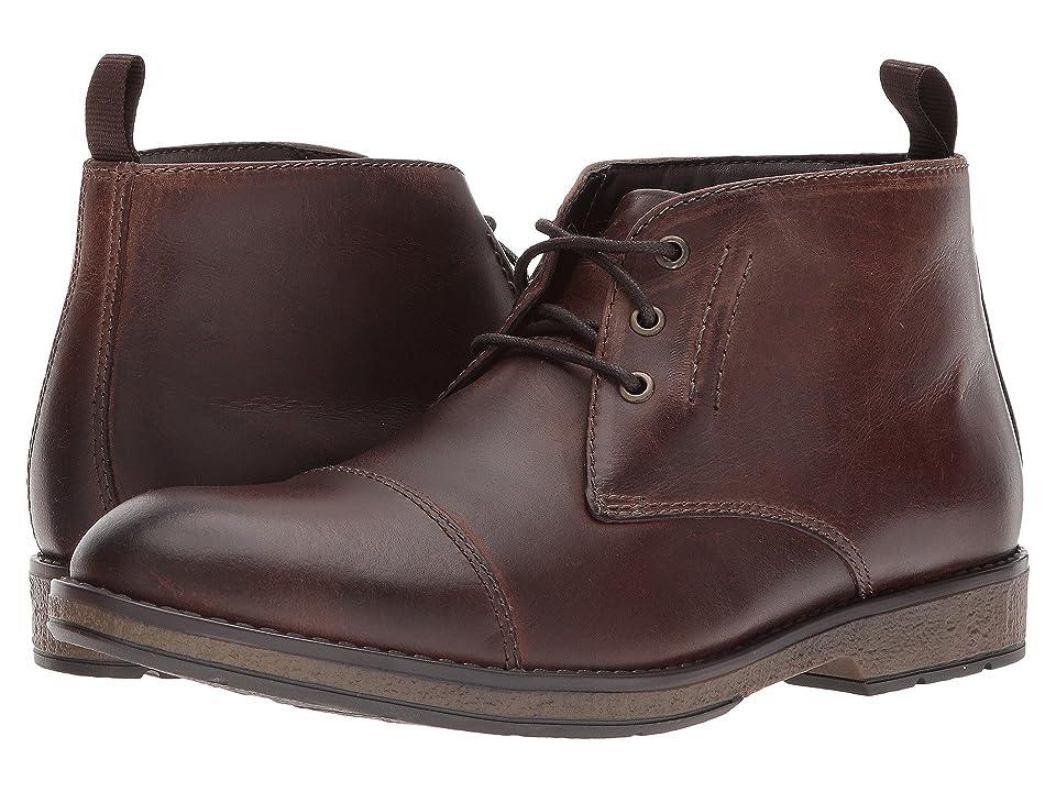 Clarks Hinman Mid (Mahogany Leather) Men