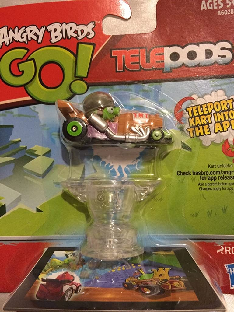 Angry Birds Go! Telepods Kart - Pig with Grey Helmet New With Base ,#G14E6GE4R-GE 4-TEW6W253400