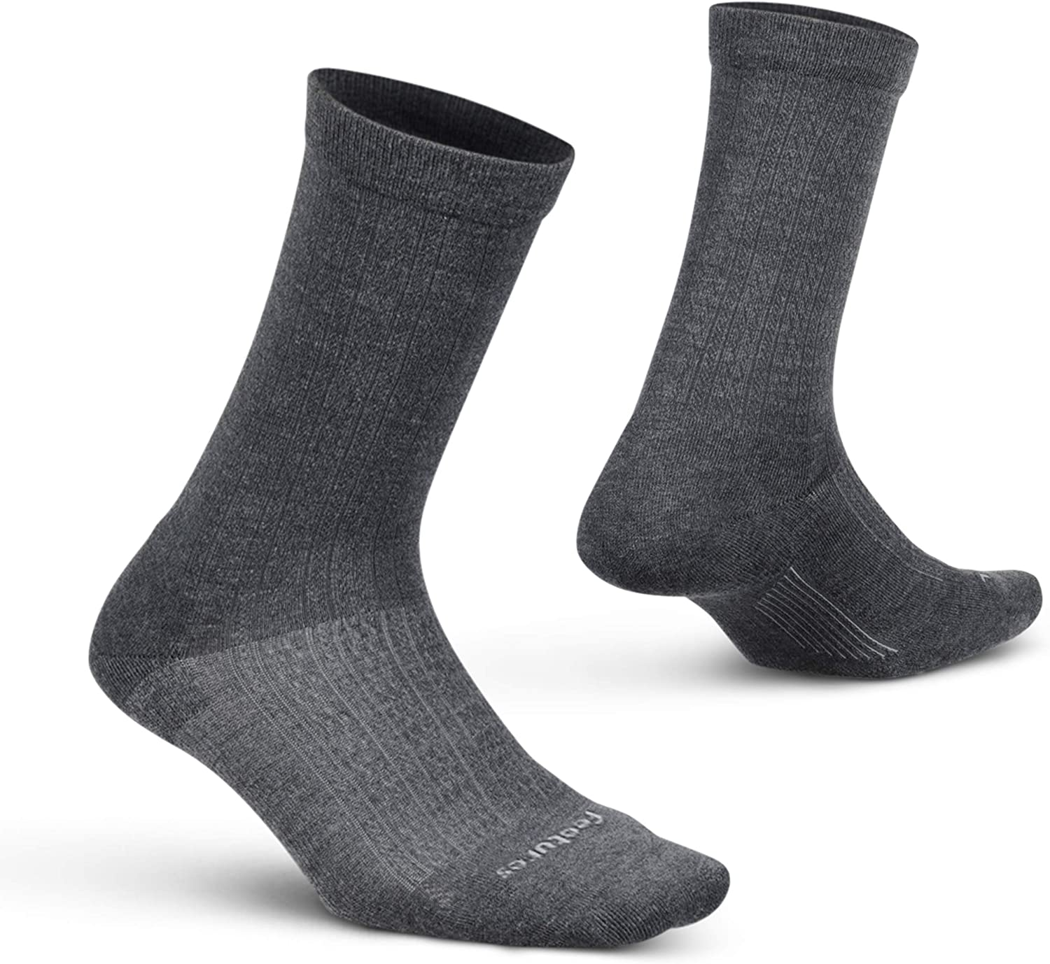 Feetures Everyday Women's Texture Cushion Crew- Targeted Compression Socks, Moisture Wicking