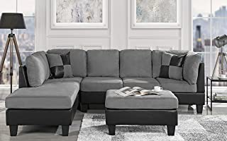 Amazon.com: Grey - Living Room Sets / Living Room Furniture ...