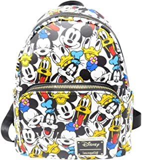 Disney The Fab 5 Mickey Minnie Allover Print Double Strap...