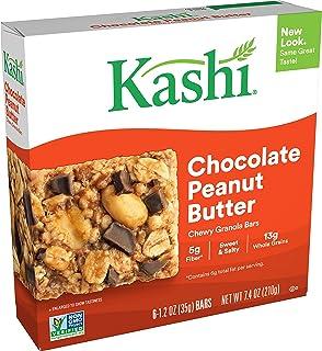 Kashi Chewy Chocolate Peanut Butter Granola Bars - Vegan, Box of 6 bars