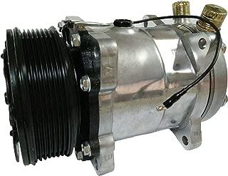 ACTECmax Universal A/C Compressor with Black PV7 Clutch Sanden 508 5H14 R134A