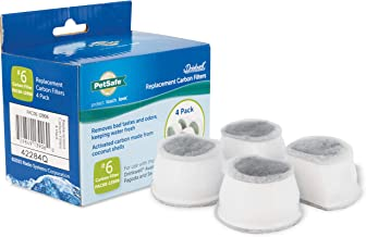 PetSafe Drinkwell Replacement Carbon Filters, Dog and Cat Ceramic and 2 Gallon Water Fountain Filters