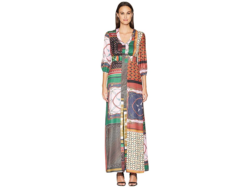 Boutique Moschino Maxi Dress (Fantasy Print/Vintage Scarf) Women