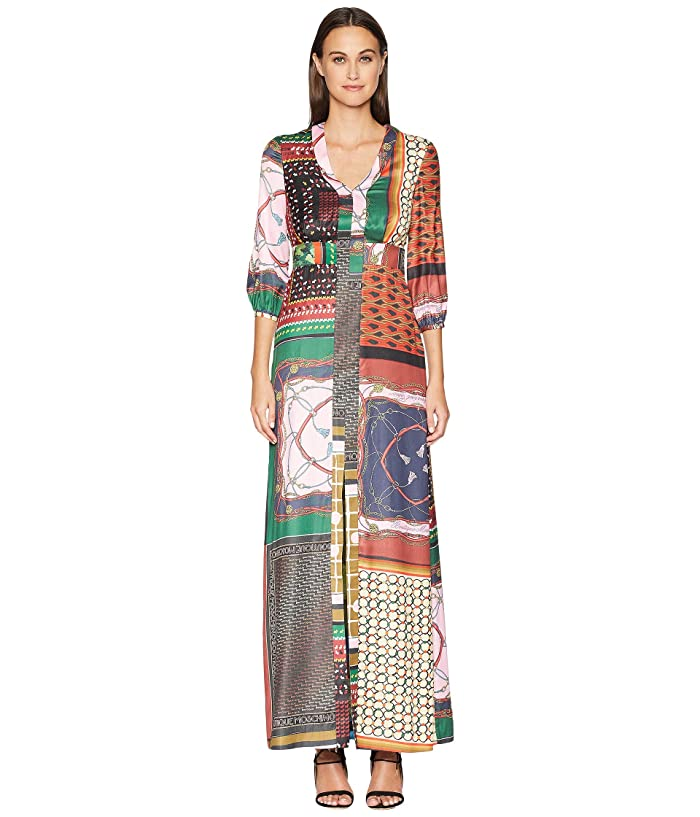 Boutique Moschino Maxi Dress (Fantasy Print/Vintage Scarf) Women