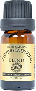 Prime Natural Uplifting Energizing Aromatherapy Essential Oil-Undiluted (10 ml) Aromatherapy Oil for Diffuser, Natural Calm, Mood Boost and Energy with Rosemary and Black Pepper