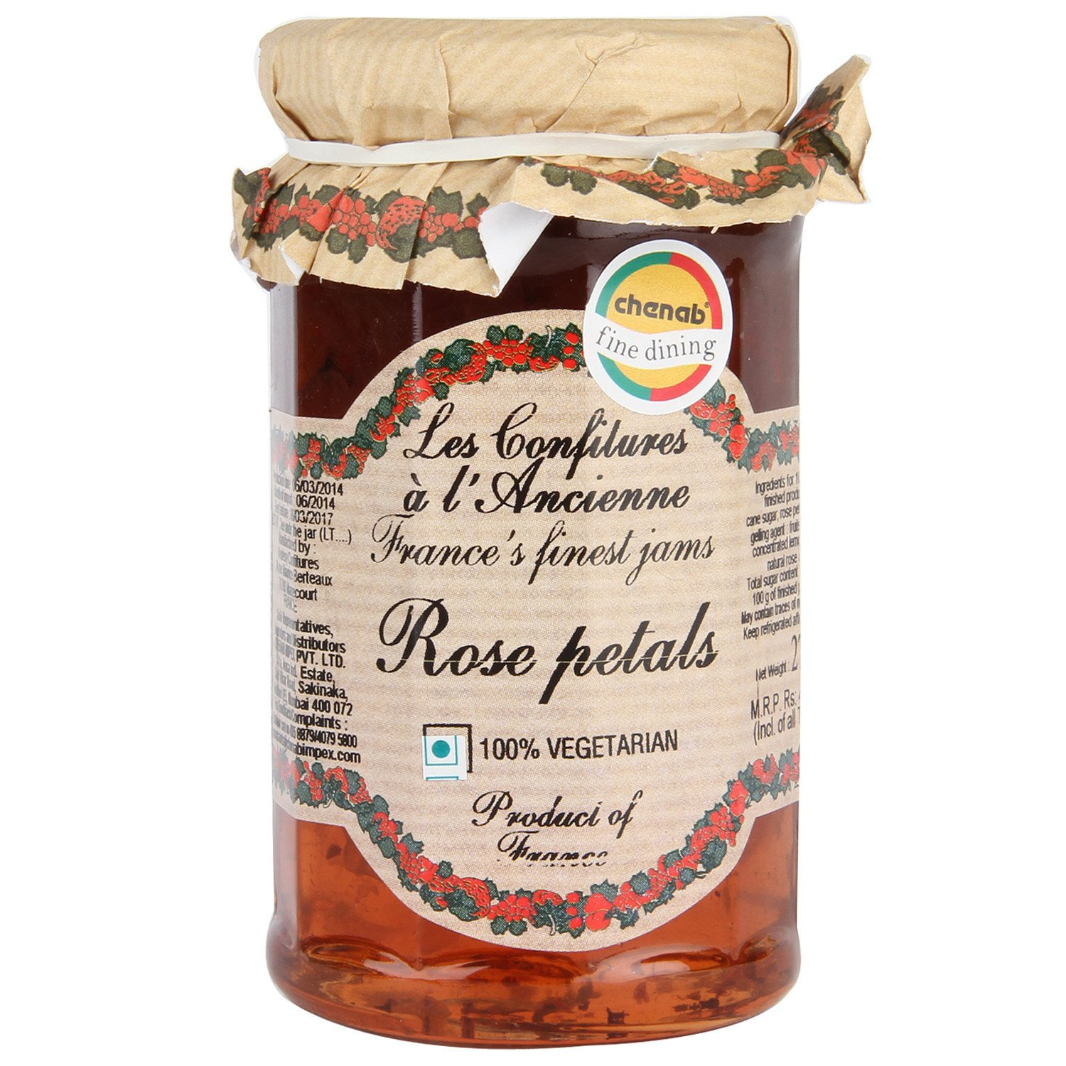 Rose Petal Max 75% OFF Jam Andresy All natural jam SEAL limited product sugar 9. cane pure French