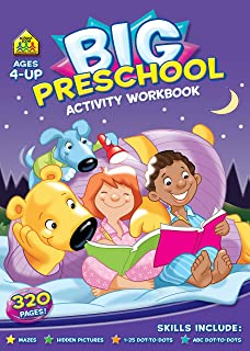 Big Preschool Activity Workbook Ages 4 and up, Maths,Hidden Pictures, 1-20 Dot-to-Dot, ABC Dot-to-Dot and more