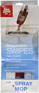 Dirt Devil Disposable Swipes Pads for Spray Mop, AD51050, 12 Pack, White