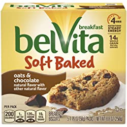 belVita Soft Baked Breakfast Biscuits, Chocolate, 8.8 Ounce