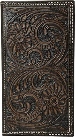Floral Embossed Rodeo Wallet