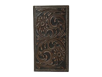 M&F Western Floral Embossed Rodeo Wallet (Brown) Wallet Handbags