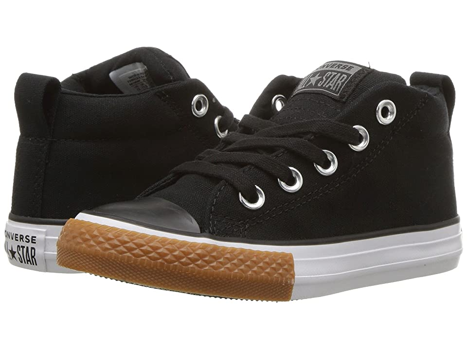 79bba2fb5caf Converse Kids Chuck Taylor All Star Street Mid (Little Kid Big Kid) (Black  Black White) Boy s Shoes