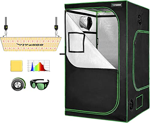 "high quality VIVOSUN Latest sale VS2000 LED Grow Light popular with 48""x48""x80"" Grow Tent outlet online sale"
