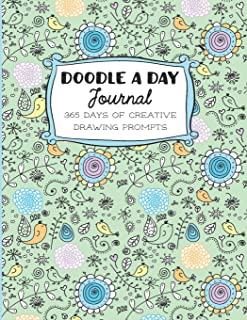 Doodle a Day Journal: 365 Days of Creative Drawing With Prompts (My Colorful Year Art Series)