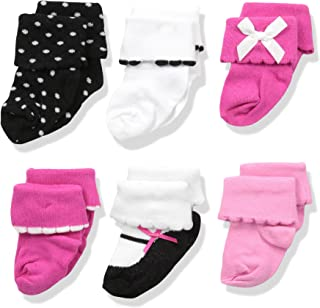 luvable friends para bebé niña 6par de calcetines de vestir puño