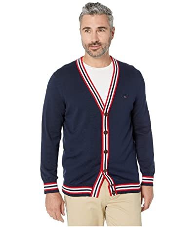 Tommy Hilfiger Adaptive Cardigan Sweater with Magnetic Buttons (Navy Blazer Multi) Men