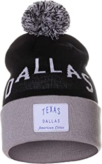 American Cities Unisex USA Fashion Arch Cities Pom Pom Knit Hat Cap Beanie