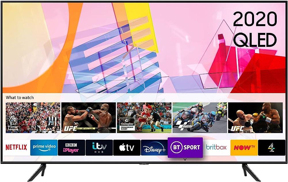 Samsung smart tv 55 pollici q60t qled 4k quantum hdr, con sistema operativo tizen QE55Q60TAUXXU
