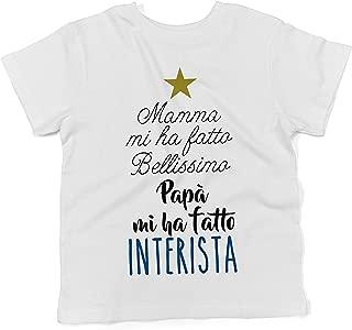 Maglietta Divertente Neonato LaMAGLIERIA Baby T-Shirt a Maniche Corte La mia zietta /è