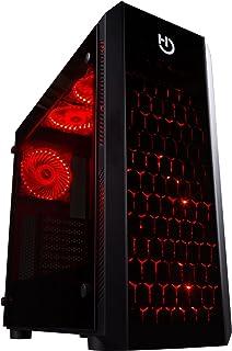 Hiditec NG-RX Torre Negro - Caja de Ordenador (Torre, PC, SECC, Vidrio Templado, Negro, ATX,ITX,Micro ATX, Juego)