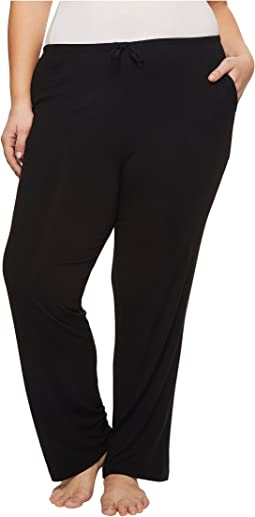 Donna Karan - Plus Size Modal Spandex Jersey Long Pants