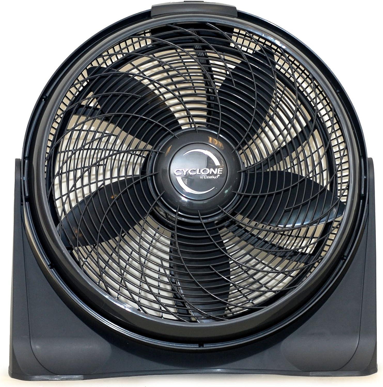 Lasko 20″ Cyclone 4-Speed Fan with Remote Control, Black