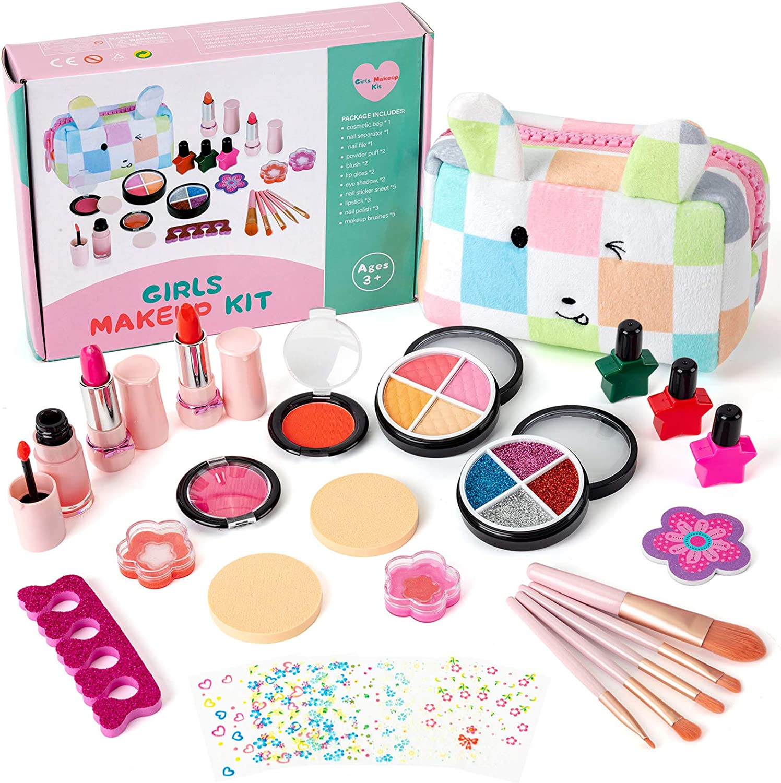 KODATEK 27 Pieces Kids Makeup Ranking TOP15 Kit Rabbit for Bag sold out Girl Designed
