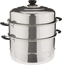 RC Global 2 Tiers Stainless Steel Soup Steamer, 28cm