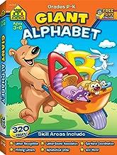 School Zone - Giant Alphabet Workbook - Ages 3 to 5, Preschool and Kindergarten, ABCs, Uppercase and Lowercase Letters, and Writing (School Zone Giant Workbook Series)