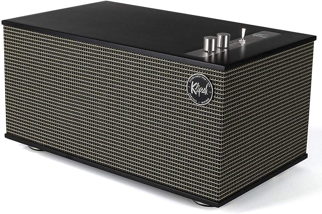 Klipsch the three ii black, speaker bluetooth, usb, phono preamp B07V9LWV8S
