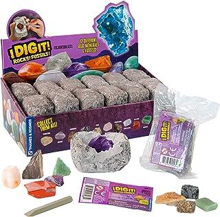 Thames & Kosmos I Dig It! Rocks & Fossils - 24 Mini Excavation Kit Gift Set