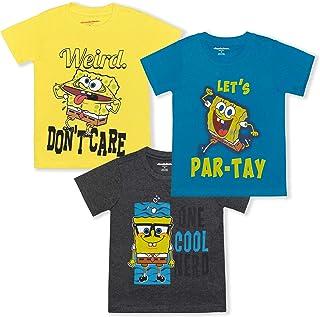 Nickelodeon Spongebob Squarepants Boy's 3-Piece Short Sleeve Graphic Tee Set
