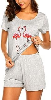 Pajamas Set Short Sleeve Sleepwear Womens Printed Nightwear Pjs Sets S-XXL