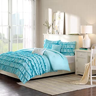 Intelligent Design ID10-021 Waterfall Comforter Set, Twin/Twin XL, Blue